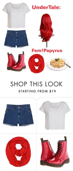 """""""UnderTale: Fem!Papyrus"""" by derpiplier ❤ liked on Polyvore featuring Monki, Pieces and Dr. Martens"""