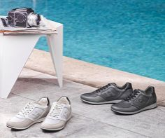 James Reeve introduces Olympia X - H205 sneakers, which have an urban yet elegant feel. #CasualBusiness