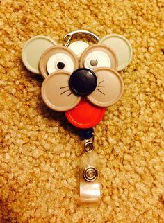 Doggie vial badge reel
