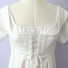 Short stays for Regency Era dress - aka, bra. Hmmm... necessary to look right??