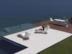 Tumbonas de diseño modelo SURF. Decoración Beltran, tu tienda de mobiliario de exterior en Internet. www.decoracionbeltran.com