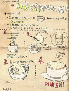 COFFEE MAKING - How to make DRY CAPPUCCINO by nyoin