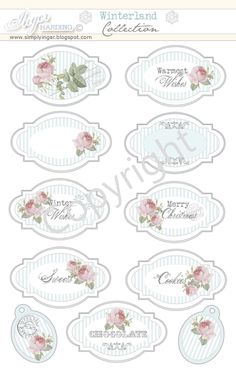 Printable Scrapbooking Papers by Inger Harding.