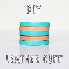 Teamed up with Endless Leather for a sweet DIY! Diy Leather Projects, Diy Projects To Try, Leather Cuffs, Leather Jewelry, Make Your Own, Make It Yourself, Arm Party, Creative Crafts, Diy Gifts