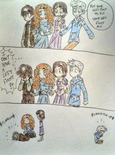HAHAHAHA! Oh! Er-sorry Hiccup...*Turns and nudges Jack, both burst out laughing*