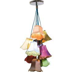 37168 lampada saloon ornament b-n 9 cappelli kare outlet arredo ...