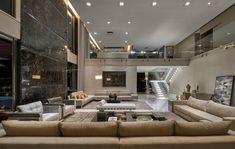 Home - Estela Netto – Arquitetura e Design Luxury Homes Dream Houses, Dream House Interior, Luxury Homes Interior, Luxury Home Decor, Modern Mansion Interior, Luxury House Plans, Home Room Design, Dream Home Design, Modern House Design