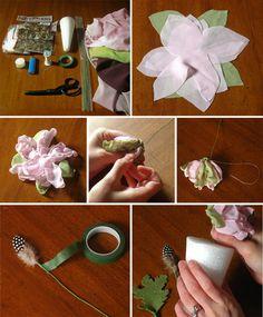 DIY Organza Flower Bouquet