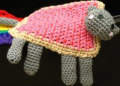 Nyan Cat Scarf Pop-Tart / Poptart Cat Crocheted w/ by Xasper8ing