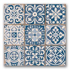 Tapestry blue wall tiles