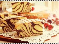 Resep Ogura Cake Zebra with Coconut Milk oleh Tintin Rayner - Cookpad