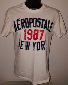 Aeropostale Men's Red/White/Blue 1987 New York T-Shirt Size XS #Aeropostale #GraphicTee