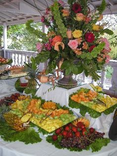 Beautiful food table buffets party buffet tables pinterest remember to raise the center of the table to add interestlove watchthetrailerfo