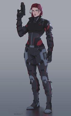 Mass Effect Characters, Star Wars Characters, Fantasy Characters, Female Characters, Female Character Design, Character Concept, Character Art, Cyberpunk, Mass Effect Art