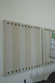 how to make linen corkboards for $3!