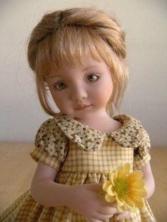 """""""Anna"""" doll made by Tamara Howell from Dianna Effner mold Pretty Dolls, Cute Dolls, Beautiful Dolls, Girl Doll Clothes, Girl Dolls, Barbie Dolls, Antique Dolls, Vintage Dolls, Lifelike Dolls"""