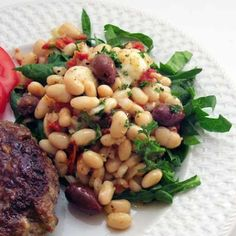 Tuscan White Bean Salad with Spinach, Olives, and Sun-Dried Tomatoes