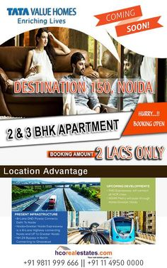Get ready to invest your money with reputed builder Tata Value Homes. builder offers you affordable homes available in 1 BHK,2BHK and #BHK. property available in tata sector 150 noida, most prominent spot of Noida is near by yamuna expressway.