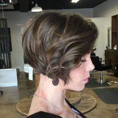 Curled Brown Bob Hairstyle