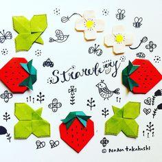 いいね!111件、コメント1件 ― nanatakahashi*さん(@_nanahoshi_)のInstagramアカウント: 「朝採りイチゴ(*^^*) トリもねらってるー。 I eat strawberry this morning Birds want #paperart #illustration…」