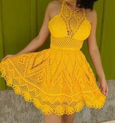 35 examples of beautiful knitting patterns Crochet Blouse, Crochet Lace, Crochet Bikini, Crochet Pattern, Crochet Summer Dresses, Dress Summer, Crochet Fashion, Crochet Designs, Crochet Clothes