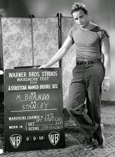Marlon Brando costume test for A Streetcar Named Desire, 1950