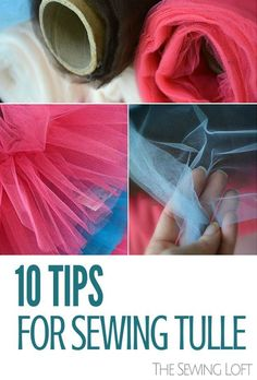 Sewing with Tulle - Easy Tips