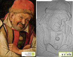 Tactile Paintings: Textured Relief zu Jean Fouquets, Der ferraresische Hofnarr Gonella, um  1445.