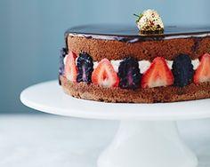 Chocolate berry fraisier cake recipe