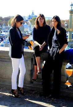 Capucine Safyurtlu, Claire Dhelens and Geraldine Saglio at Hermès.