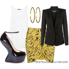 Classy, created by adoremycurves on Polyvore