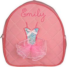 Monogrammed Quilted Toddler Ballet Backpack Personalized