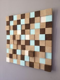 Large Wood wall Art wood mosaic geometric art large art