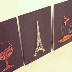 DIY Nails and string wall art - http://craveorcreate.blogspot.in/2013/09/diy-decor-tugging-at-my-heart-strings.html