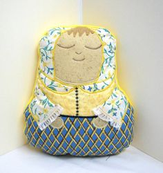 Matryoshka Doll Pillow by QuiltingFrenzy on Etsy