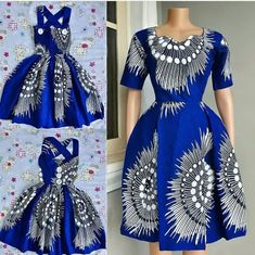 The best Ankara Skater Gown Styles For Ladies - fashionist now African Print Dress Designs, African Print Dresses, African Wear, African Attire, African Women, African Dress, African Prints, African Style, African Fabric