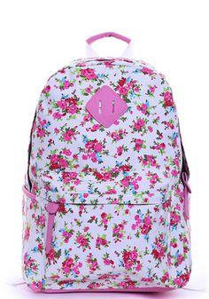 Sweet Floral Print Backpack