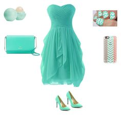 """""""Teal outfit"""" by violingirl2003 ❤ liked on Polyvore featuring Casetify, Cape Robbin, Eos and Kate Spade"""