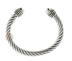 Twisted Pattern Silver Cuff | designer jewellery