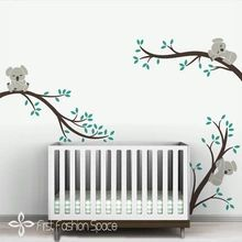 Oversize Removable Koala Tree Branches DIY Wall Decals Wall Sticker Nursery Vinyls Baby Wall Stickers Wall Art For Kids Rooms(China (Mainland))
