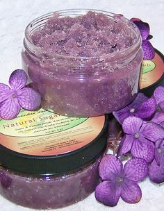 Natural Sugar Scrub & Deep Moisture Spa Treatment - Lavender Vanilla Mint 8 oz value size