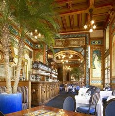 Salle du bar, Brasserie La Cigale