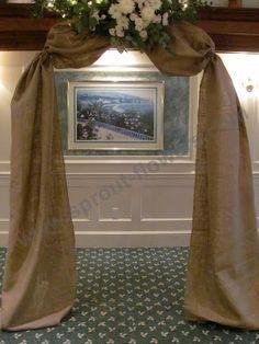 diy burlap wedding arch | burlap covered wedding arch, Worcester florists - Sprout: Wedding ...