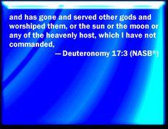 Bible Verse Powerpoint Slides for Deuteronomy 17:3