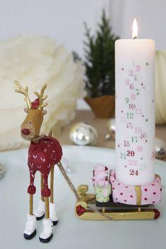 Kalenderlys rosa
