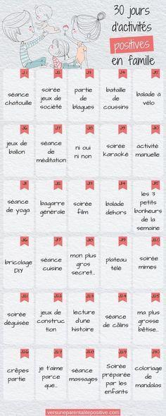 challenge: 30 jours d'activités positives en familles