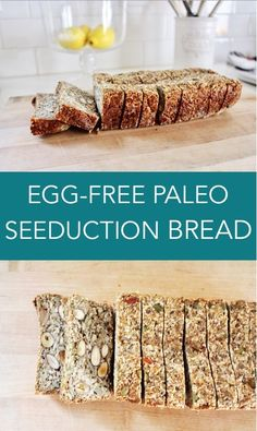This egg-free paleo bread is made almost entirely of nuts and seeds and is a god send to anyone living gluten-free!
