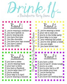 Fun Drinking Game for your bridesmaids