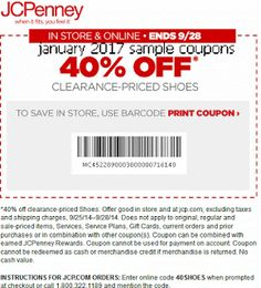 Coupon Codes For JcPenney Coupons 10 Off 25 50 Promo Ends February 2017