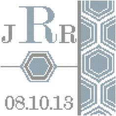 #crossstitch #pattern #diy   #monogram